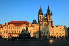 Vecchia piazza a Praga Immagini Stock