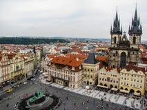 Vecchia piazza, Praga Immagini Stock Libere da Diritti