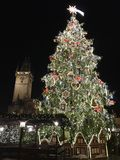 Vecchia piazza Praga Immagini Stock Libere da Diritti