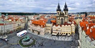 Vecchia piazza, Praga, Repubblica ceca Immagine Stock Libera da Diritti