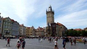 Vecchia piazza a Praga, Repubblica ceca video d archivio