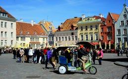 Vecchia piazza, Tallinn Fotografie Stock Libere da Diritti