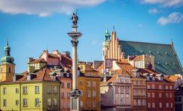 Vecchia piazza a Varsavia Fotografia Stock