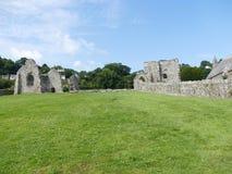 Vecchia pietra Abby di Lingua gallese fotografie stock libere da diritti