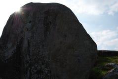 Vecchia pietra a Avebury nel Regno Unito fotografie stock