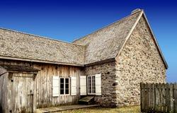 Vecchia pietra & casa di legno fotografia stock libera da diritti