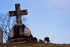 Vecchia pietra tombale Immagine Stock Libera da Diritti