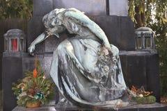 Vecchia pietra tombale 462 a Vienna Fotografia Stock
