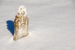 Vecchia pietra tombale del lichene Fotografia Stock Libera da Diritti