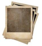 Vecchia pila delle strutture della foto della polaroid isolata Fotografie Stock Libere da Diritti