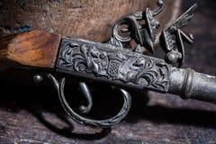 Vecchia pistola dell'annata Fotografia Stock