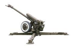 Vecchia pistola dell'artiglieria Fotografie Stock Libere da Diritti