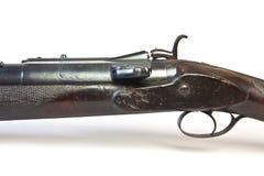 Vecchia pistola di calcio di caccia con la serratura di sistema di Snider fotografia stock