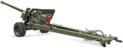 Vecchia pistola di campo Fotografia Stock