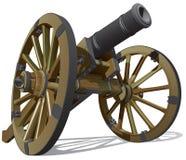 Vecchia pistola di campo Fotografie Stock Libere da Diritti