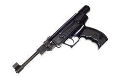 Vecchia pistola, isolata su fondo bianco Fotografia Stock Libera da Diritti