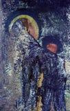 Vecchia pittura cristiana Immagini Stock