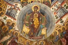 Vecchia pittura cristiana Immagini Stock Libere da Diritti