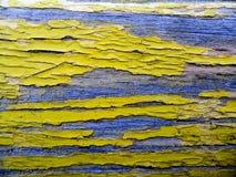 vecchia pittura gialla Fotografia Stock