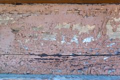 Vecchia pittura marrone su legno Fotografia Stock