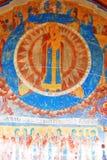 Vecchia pittura religiosa Chiesa del Saint Nicolas in Yaroslavl, Ru Immagini Stock