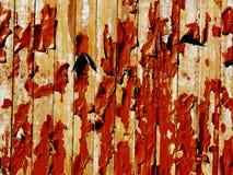 Vecchia pittura rossa Fotografia Stock Libera da Diritti
