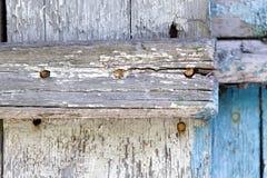 Vecchia pittura sullo scrittorio di legno Fotografie Stock