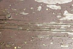 Vecchia plancia in pittura marrone Immagine Stock