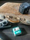 Vecchia polvere del film e della macchina fotografica Immagini Stock Libere da Diritti