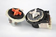 Vecchia pompa della lavatrice Pezzi di ricambio per gli elettrodomestici immagine stock