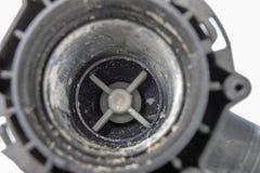 Vecchia pompa della lavatrice Pezzi di ricambio per gli elettrodomestici fotografia stock