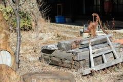 Vecchia pompa idraulica Immagini Stock
