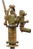 Vecchia pompa idraulica arrugginita fotografie stock