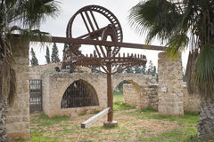 Vecchia pompa idraulica Binyamina Fotografie Stock Libere da Diritti