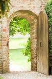 Vecchia porta Fotografia Stock Libera da Diritti