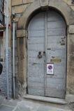 Vecchia porta a Bergamo Fotografie Stock Libere da Diritti