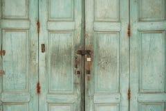 Vecchia porta bloccata Fotografie Stock