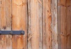 Vecchia porta con vecchia struttura di legno Fotografia Stock