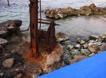 Vecchia porta corrosione Immagine Stock
