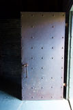 Vecchia porta d'acciaio con i ribattini Fotografia Stock Libera da Diritti