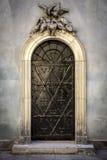 Vecchia porta del metallo Immagini Stock
