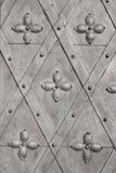 Vecchia porta del metallo con l'ornamento Fotografie Stock