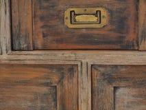 vecchia porta del petto Fotografia Stock
