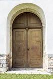 Vecchia porta della chiesa Immagine Stock