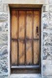 Vecchia porta della quercia Fotografie Stock Libere da Diritti