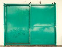 vecchia porta dello scorrevole Immagini Stock Libere da Diritti