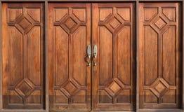 Vecchia porta di legno Immagini Stock Libere da Diritti
