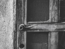 Vecchia porta di legno d'annata Immagini Stock Libere da Diritti