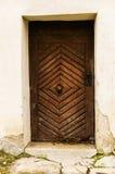 Vecchia porta di legno della chiesa Fotografia Stock