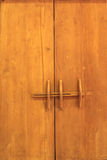 Vecchia porta di legno di Lanna Immagine Stock Libera da Diritti